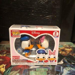 Donald And Daisy Key Chain Funko Pops.